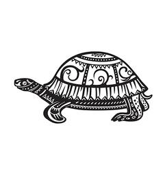 Ethnic ornamented tortoise vector image vector image