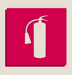 Fire extinguisher sign grayscale version vector