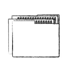 Folder documents isolated icon vector