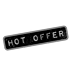 hot offer rubber stamp vector image
