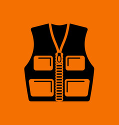 Hunter vest icon vector