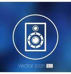 icon audio speaker sound wave symbol vector image vector image