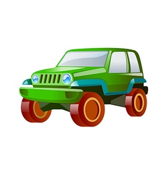 icon jeep vector image
