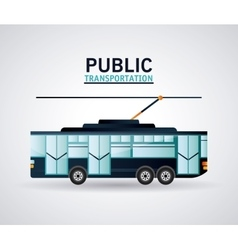 Isolated trolley vehicle design vector
