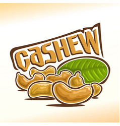 Logo for cashew nuts vector