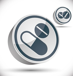 Medical pills 3d icon vector image