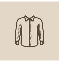 Shirt sketch icon vector image