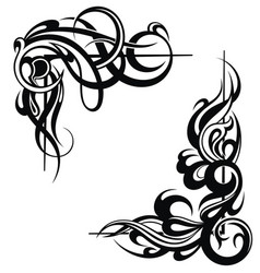 Tattoo frame elements vector