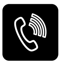 the sign of the handset vector image vector image