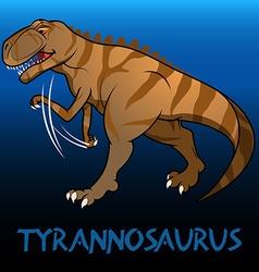 Tyrannosaurus cute character dinosaurs vector