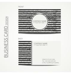 Vintage simple monochrome business card template vector