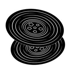 vinyl recordshippy single icon in black style vector image vector image