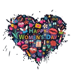 Womens Day on the background of colorful blots vector image vector image