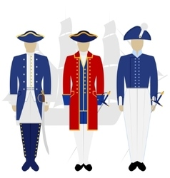Officers of the Russian fleet-2 vector image