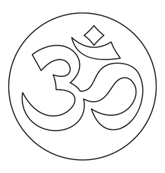 Om sign icon outline style vector image