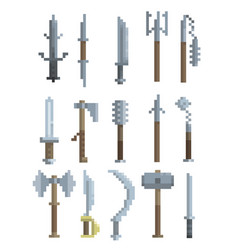 Pixel art weapon vector