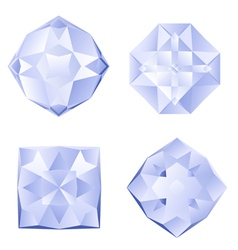 Set of rhinestones vector image