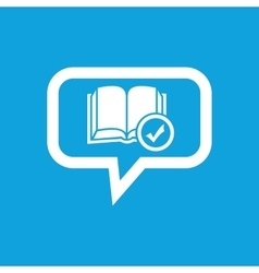 Selected book message icon vector