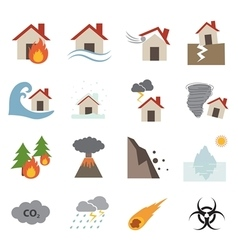 Disaster icon vector