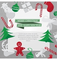 Christmas card with xmas decorations vector