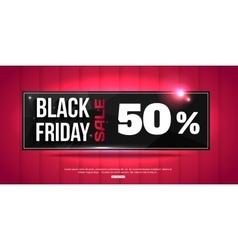 Black friday super sale shining horizontal banner vector