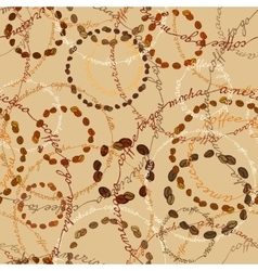 Cream coffee samless pattern vector