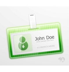 Identification badge vector
