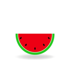 Slice of ripe watermelon vector