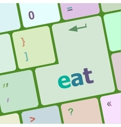 Eat button on computer pc keyboard key vector