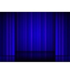 Close view of a blue curtain vector image