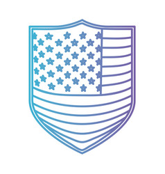 badge with flag united states of america in color vector image vector image