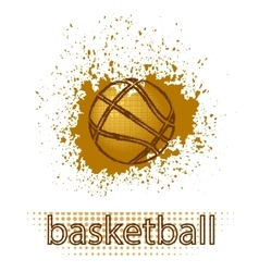 Basketball creative grunge logo vector