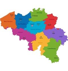 Belgium map vector image vector image