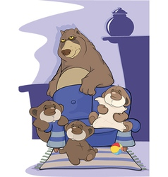 Big bear family vector