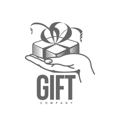 Black and white graphic gift box logo templates vector