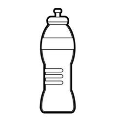 Black silhouette sports bottle for liquids vector