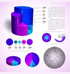 Business diagram templates set vector