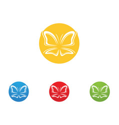 Butterfly conceptual simple colorful icon logo vector