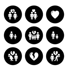 Concept family help icons vector