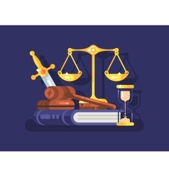 Court and law concept flat vector