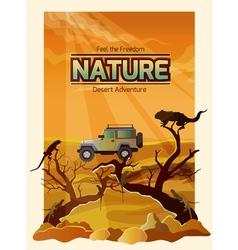 Desert landscape backround vector