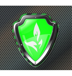 eco protection shield vector image vector image