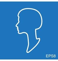 Female profile vector