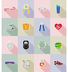 Fitness flat icons 18 vector