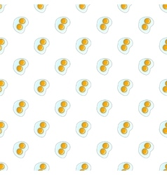 Fried eggs pattern cartoon style vector image