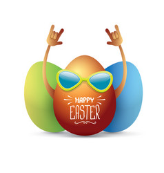 happy easter card with rock n roll egg vector image vector image