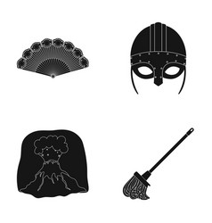 history travel and or web icon in black style vector image