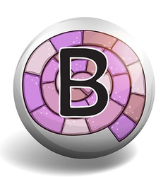 Letter b on round badge vector