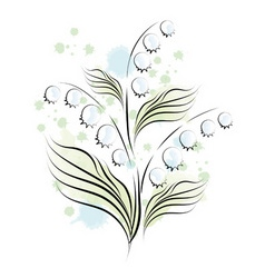 lily of the valley sketch vector image