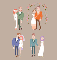 man and woman getting married vector image